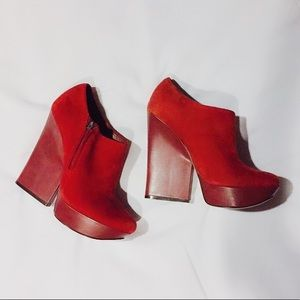 Boutique 9 Red Leather Runway Heels